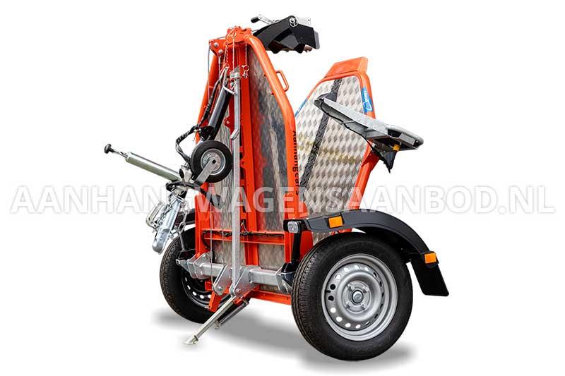Cochet motortrailer in opgevouwen staat