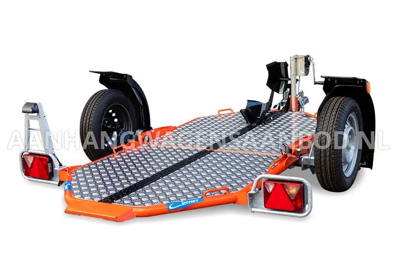Cochet motortrailer met tot op de grond verlaagde laadvloer