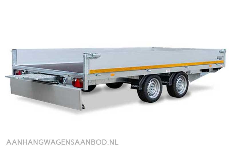 Functionele plateauwagen met oprijplaten