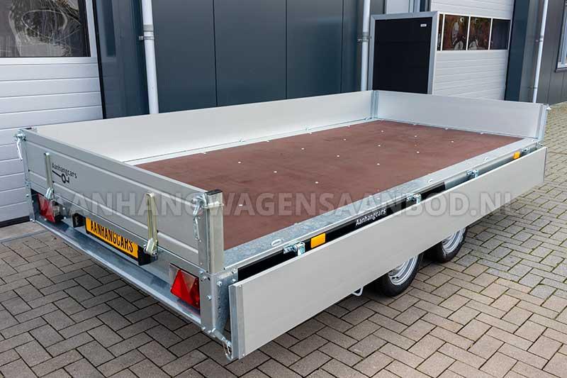 Martz plateauwagen met geopend zijbord